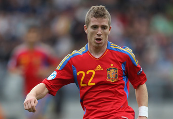 VIBORG, DENMARK - JUNE 22: Iker Muniain of Spain during the UEFA European Under-21 Championship semi-final match between Belarus and Spain at the Viborg Stadium on June 22, 2011 in Viborg, Denmark.  (Photo by Michael Steele/Getty Images)
