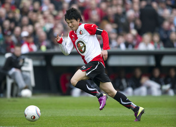 ROTTERDAM, NETHERLANDS - MARCH 13:  Ryo Miyaichi runs for the ball during the Eredivisie match between Feyenoord and NAC at the Kuip on March 13, 2011 in Rotterdam, Netherlands.  (Photo by Olaf Kraak/Getty Images)
