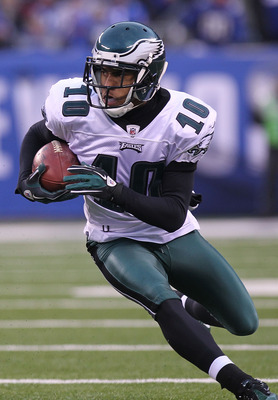 Terrelle Pryor would add to an abundance of talent the Eagles' offense owns, including receiver DeSean Jackson (above).