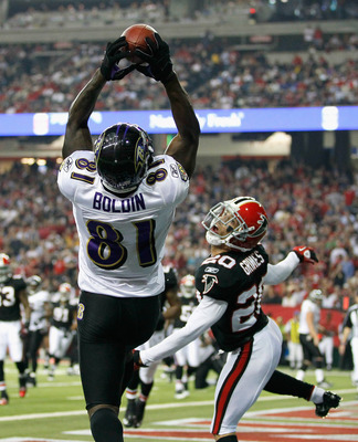 ATLANTA - NOVEMBER 11:  Anquan Boldin #81 of the Baltimore Ravens against Brent Grimes #20 of the Atlanta Falcons at Georgia Dome on November 11, 2010 in Atlanta, Georgia.  (Photo by Kevin C. Cox/Getty Images)