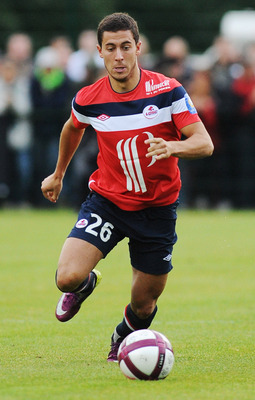 CHAMBON, FRANCE - JULY 23:  Eden Hazard of Lille in action during the pre-season friendly match between Lille and Saint Etienne on July 23, 2011 in Chambon sur Lignon, France.  (Photo by Valerio Pennicino/Getty Images)