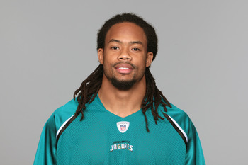 JACKSONVILLE, FL - CIRCA 2010:  In this handout photo provided by the NFL,  Josh Gordy of the Jacksonville Jaguars poses for his 2010 NFL headshot circa 2010 in Jacksonville, Florida. (Photo by NFL via Getty Images)