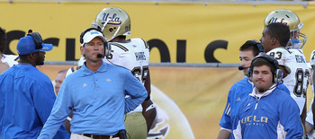 TEMPE, AZ - NOVEMBER 26:  Head coach Rick Neuheisel of the UCLA Bruins during the college football game against the Arizona State Sun Devils at Sun Devil Stadium on November 26, 2010 in Tempe, Arizona.  The Sun Devils defeated the Bruins 55-34.  (Photo by