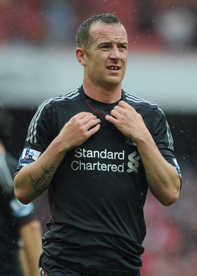 LONDON, ENGLAND - AUGUST 20:  Charlie Adam of Liverpool celebrates victory after the Barclays Premier League match between Arsenal and Liverpool at the Emirates Stadium on August 20, 2011 in London, England.  (Photo by Michael Regan/Getty Images)