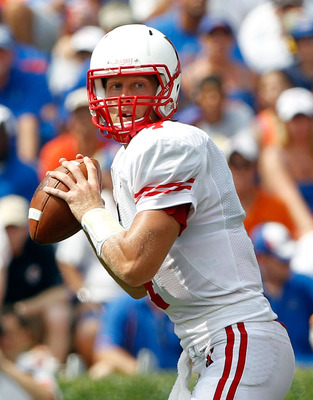 GAINESVILLE, FL - SEPTEMBER 04:  Quarterback Zac Dysert #4 of the Miami University RedHawks attempts a pass against the Florida Gators at Ben Hill Griffin Stadium on September 4, 2010 in Gainesville, Florida.  (Photo by Sam Greenwood/Getty Images)