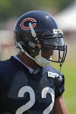 BOURBONNAIS, IL - JULY 30:  Matt Forte #22 of the Chicago Bears works out during a summer training camp practice at Olivet Nazarene University on July 30, 2011 in Bourbonnais, Illinois.  (Photo by Jonathan Daniel/Getty Images)