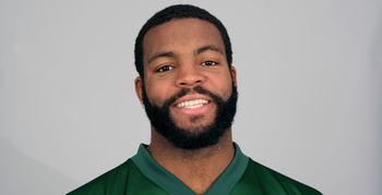 FLORHAM PARK, NJ - CIRCA 2010: In this handout image provided by the NFL, Braylon Edwards of the New York Jets poses for his 2010 NFL headshot circa 2010 in Florham Park, New Jersey. (Photo by NFL via Getty Images)