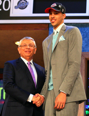 NEW YORK - JUNE 25:  NBA Commissioner David Stern poses for a photograph with the fifteenth overall draft pick by the Detroit Pistons,  Austin Daye during the 2009 NBA Draft at the Wamu Theatre at Madison Square Garden June 25, 2009 in New York City. NOTE