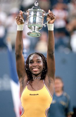 Venus lifting the trophy for the first time