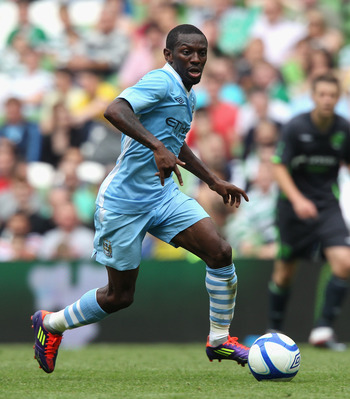 DUBLIN, IRELAND - JULY 30:  Shaun Wright-Phillips runs with the ball during the Dublin Super Cup match between Manchester City and Airtricity XI at Aviva Stadium on July 30, 2011 in Dublin, Ireland.  (Photo by David Rogers/Getty Images)