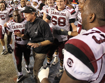 South Carolina coach Steve Spurrier