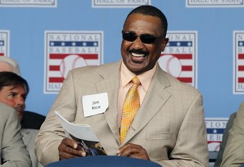COOPERSTOWN, NY - JULY 24:  Hall of Famer Jim Rice is introduced at Clark Sports Center during the Baseball Hall of Fame induction ceremony on July 24, 2011 in Cooperstown, New York.  (Photo by Jim McIsaac/Getty Images)