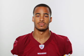 WASHINGTON, DC - CIRCA 2010:  In this photo provided by the NFL, Terrence Austin of the Washington Redskins poses for his 2010 NFL headshot circa 2010 in Washington, DC.  (Photo by NFL via Getty Images)