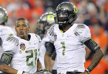 LaMichael James (left) and Darron Thomas