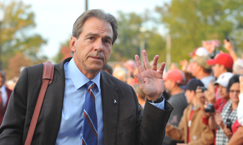 Bama coach Nick Saban