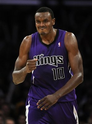Samuel Dalembert #10 of the Sacramento Kings.