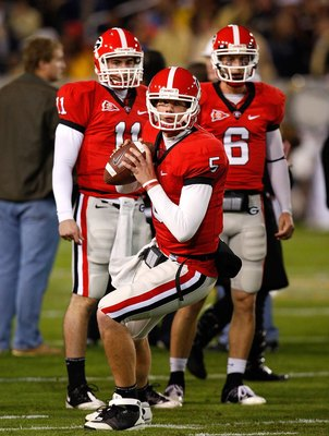 ATLANTA - NOVEMBER 28:  Backup quarterback Zach Mettenberger #5 of the Georgia Bulldogs against the Georgia Tech Yellow Jackets at Bobby Dodd Stadium on November 28, 2009 in Atlanta, Georgia.  (Photo by Kevin C. Cox/Getty Images)