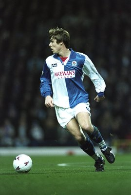8 Apr 1996:  Gary Flitcroft of Blackburn Rovers in action during an FA Carling Premiership match against Newcastle United at Ewood park in Blackburn, England. Blackburn won the match 2-1. \ Mandatory Credit: Stu  Forster/Allsport