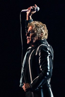MIAMI GARDENS, FL - FEBRUARY 07:  Musician Roger Daltrey of The Who performs at halftime of Super Bowl XLIV between the Indianapolis Colts and the New Orleans Saints on February 7, 2010 at Sun Life Stadium in Miami Gardens, Florida.  (Photo by Win McNamee