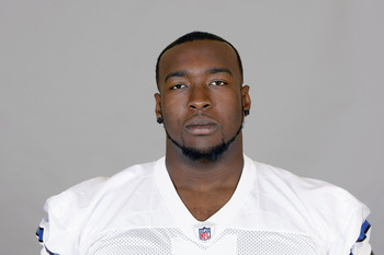 IRVING, TX - CIRCA 2010: In this handout image provided by the NFL,Robert Brewster of the Dallas Cowboys poses for his 2010 NFL headshot circa 2010 in Irving, Texas. (Photo by NFL via Getty Images)