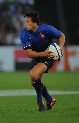BORDEAUX, FRANCE - AUGUST 13:  Francois Trinhduc of France in action during the international friendly between France and Ireland at Stade Chaban-Delmas on August 13, 2011 in Bordeaux, France.  (Photo by Christopher Lee/Getty Images)