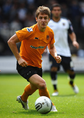 NOTTINGHAM, ENGLAND - JULY 23:  Kevin Doyle of Wolves in action during the Pre Season Friendly between Notts County and Wolverhampton Wanderers at Meadow Lane on July 23, 2011 in Nottingham, England.  (Photo by Laurence Griffiths/Getty Images)