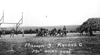1911 Homecoming Game, University of Missouri vs. Kansas