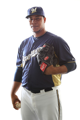MARYVALE, AZ - FEBRUARY 24:  Wily Peralta #73 of the Milwaukee Brewers poses for a portrait during Spring Training Media Day on February 24, 2011 at Maryvale Stadium in Maryvale, Arizona.  (Photo by Jonathan Ferrey/Getty Images)