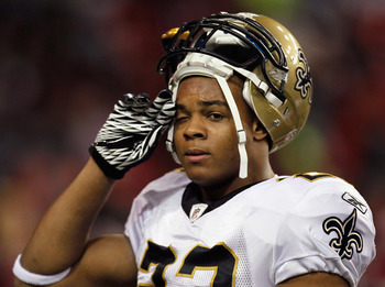 ATLANTA, GA - DECEMBER 27:  Pierre Thomas #23 of the New Orleans Saints against the Atlanta Falcons at Georgia Dome on December 27, 2010 in Atlanta, Georgia.  (Photo by Kevin C. Cox/Getty Images)