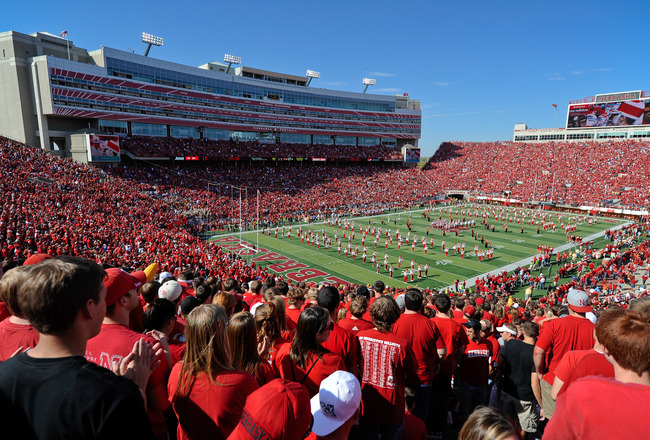 LINCOLN, NE - OCTOBER 16: Nebraska fans fill Memorial Stadium before Texas Longhorns play the Nebraska Cornhuskers on October 16, 2010 in Lincoln, Nebraska. Texas Defeated Nebraska 20-13. (Photo by Eric Francis/Getty Images)