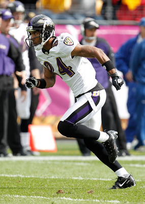 PITTSBURGH - OCTOBER 03: T.J. Houshmandzadeh #84 of the Baltimore Ravens runs a route during the game against the Pittsburgh Steelers on October 3, 2010 at Heinz Field in Pittsburgh, Pennsylvania. (Photo by Gregory Shamus/Getty Images)
