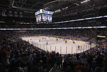 TAMPA, FL - MAY 04: A general view of the game between the Tampa Bay Lightning and the Washington Capitals in Game Four of the Eastern Conference Semifinals during the 2011 NHL Stanley Cup Playoffs at the St Pete Times Forum on May 4, 2011 in Tampa, Flori