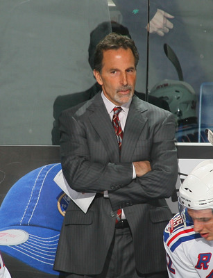 BUFFALO, NY - MARCH 30:  John Tortorella, head coach of the New York Rangers stands on the bench against the Buffalo Sabres at HSBC Arena on March 30, 2011 in Buffalo, New York.  (Photo by Rick Stewart/Getty Images)