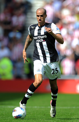 SUNDERLAND, ENGLAND - AUGUST 20:  Gabriel Obertan of Newcastle United in action during the Barclays Premier League match between Sunderland and Newcastle United at Stadium of Light on August 20, 2011 in Sunderland, England.  (Photo by Chris Brunskill/Gett