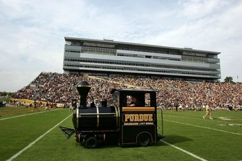 WEST LAFAYETTE, IN - SEPTEMBER 20:  The Purdue train before a game against the Central Michigan Chippewas and the Purdue Boilermakers at Ross-Ade Stadium on September 20, 2008 in West Lafayette, Indiana.  (Photo by Ronald Martinez/Getty Images)