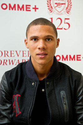 LONDON, ENGLAND - AUGUST 18:  Kieran Gibbs of Arsenal attends the official opening Nike's 'The Arsenal: 125' exhibition at the Saatchi Gallery, on August 18, 2011 in London, England. The free exhibition created to celebrate Arsenal FC's 125th anniversary
