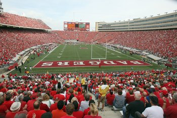 MADISON, WI - SEPTEMBER 26: A general view of the field taken during the game between the Wisconsin Badgers and the Michigan State Spartans on September 26, 2009 at Camp Randall Stadium in Madison, Wisconsin. (Photo by Jonathan Daniel/Getty Images)