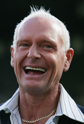 NEWCASTLE, UNITED KINGDOM - APRIL 04: Former Newcastle player Paul Gascoigne has a laugh prior to the Barclays Premier League match between Newcastle United and Chelsea at St James' Park on April 4, 2009 in Newcastle, England. (Photo by Laurence Griffiths