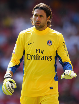 LONDON, ENGLAND - JULY 30:  Salvatore Sirigu of Paris St Germain looks on during the Emirates Cup match between New York Red Bulls and Paris St Germain at the Emirates Stadium on July 30, 2011 in London, England.  (Photo by Richard Heathcote/Getty Images)