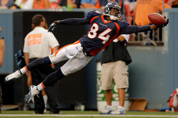 The circus catches continue in 2011 for Brandon Lloyd and the Denver Broncos