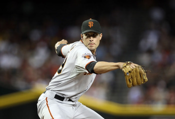 PHOENIX, AZ - JUNE 14:  Relief pitcher Javier Lopez #49 of the San Francisco Giants pitches against the Arizona Diamondbacks during the Major League Baseball game at Chase Field on June 14, 2011 in Phoenix, Arizona. The Giants defeated the Diamondbacks 6-