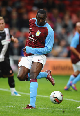 WALSALL, ENGLAND - JULY 21:  Emile Heskey of Aston Villa in action during a Pre Season Friendly between Walsall and Aston Villa at Banks' Stadium on July 21, 2011 in Walsall, England.  (Photo by Laurence Griffiths/Getty Images)