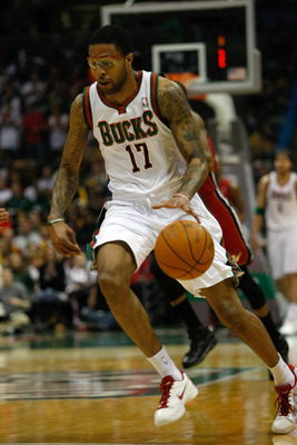 MILWAUKEE, WI - JANUARY 07: Chris Douglas-Roberts #17 of the Milwaukee Bucks drives to the basket against the Miami Heat at the Bradley Center on January 7, 2011 in Milwaukee, Wisconsin. NOTE TO USER: User expressly acknowledges and agrees that, by downlo