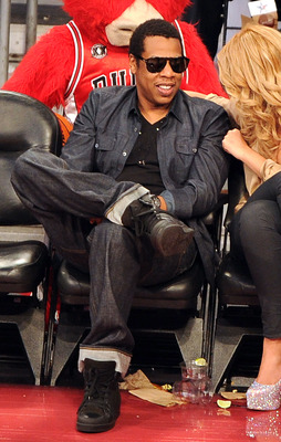 LOS ANGELES, CA - FEBRUARY 20:  Rapper Jay-Z sits in the audience during the 2011 NBA All-Star game at Staples Center on February 20, 2011 in Los Angeles, California. NOTE TO USER: User expressly acknowledges and agrees that, by downloading and or using t