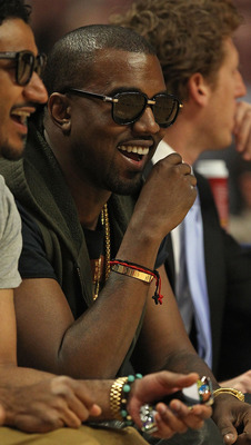 CHICAGO, IL - FEBRUARY 24: Kanye West takes in a game between the Chicago Bulls and the Miami Heat at the United Center on February 24, 2011 in Chicago, Illinois. The Bulls defeated the Heat 93-89. NOTE TO USER: User expressly acknowledges and agrees that