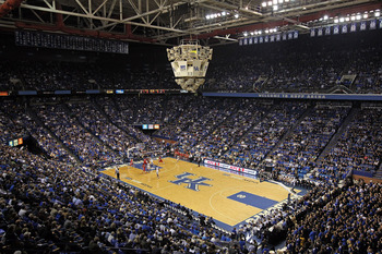 LEXINGTON, KY - NOVEMBER 30:  A general view of Rupp Arena during the Kentucky Wildcats game against the Boston University Terriers on November 30, 2010 in Lexington, Kentucky.  (Photo by Andy Lyons/Getty Images)