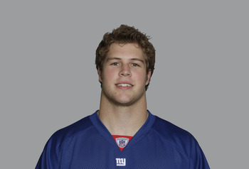 EAST RUTHERFORD, NJ - CIRCA 2010: In this handout image provided by the NFL, Rhett Bomar of the New York Giants poses for his 2010 NFL headshot circa 2010 in East Rutherford, New Jersey. (Photo by NFL via Getty Images)