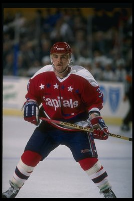 1989-1990:  A Washington Capitals player. Mandatory Credit: Rick Stewart  /Allsport