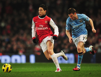 Samir Nasri vs Manchester City