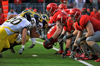 COLUMBUS, OH - NOVEMBER 27:  The Michigan Wolverines take on the Ohio State Buckeyes at Ohio Stadium on November 27, 2010 in Columbus, Ohio. Ohio State won the 107th meeting of the two schools 37-7.   (Photo by Jamie Sabau/Getty Images)